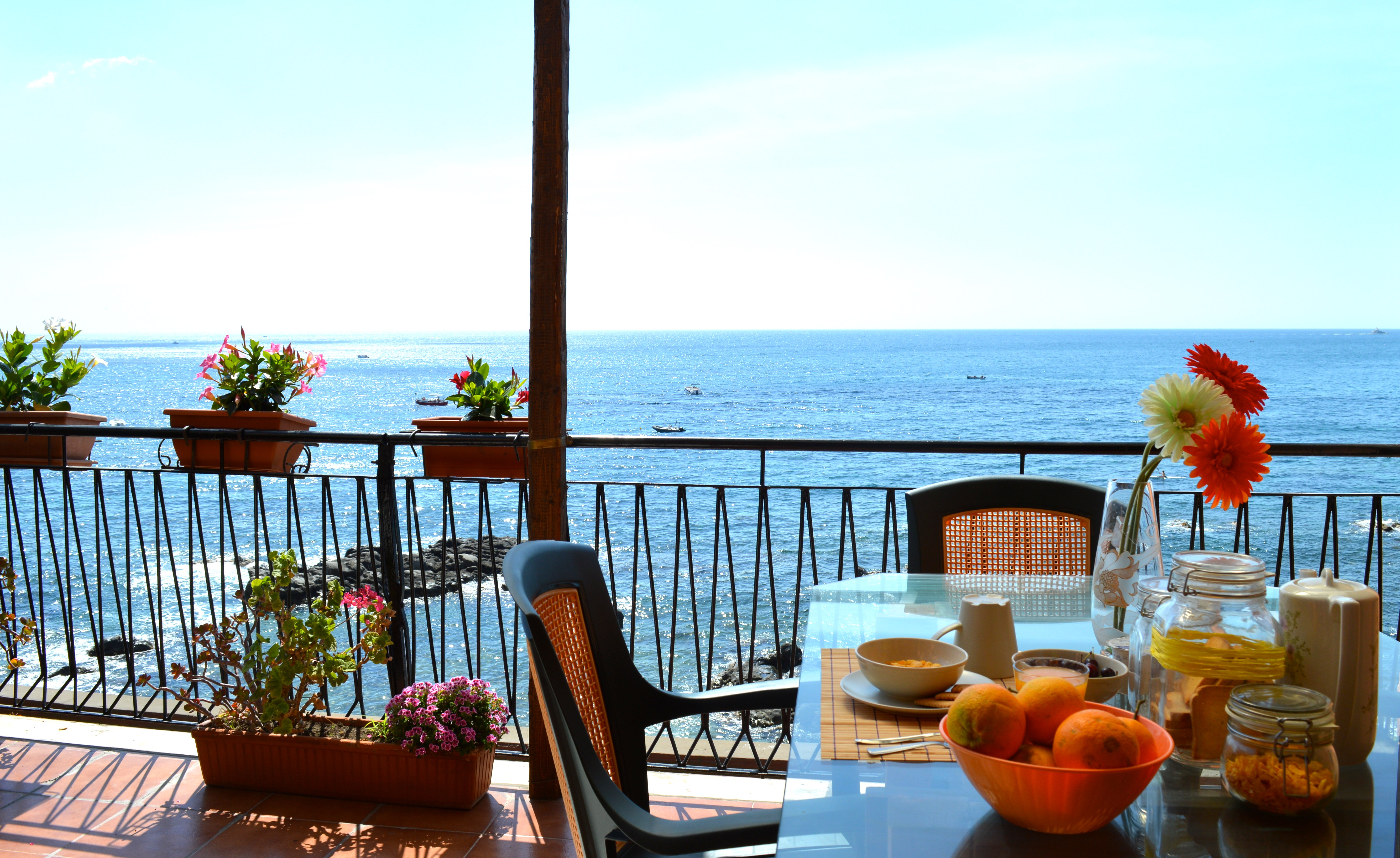 italian breakfast sicily bed beach