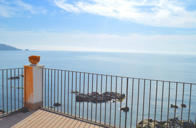 terrace seaview beach balcony sicily taormina